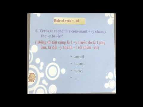 Chuên đề Tiếng Anh 8. Thì quá khứ đơn