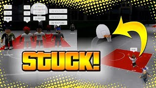 GETTING THE BALL STUCK ON THE RIM! RB WORLD 2! FUNNY GLITCH!