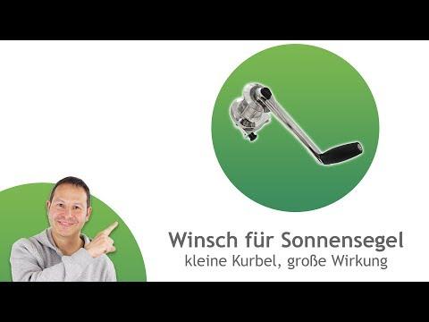 Winsch/ Kurbelantrieb für Sonnensegel - einzeln oder Vorrichtungen für runde oder ebene Flächen