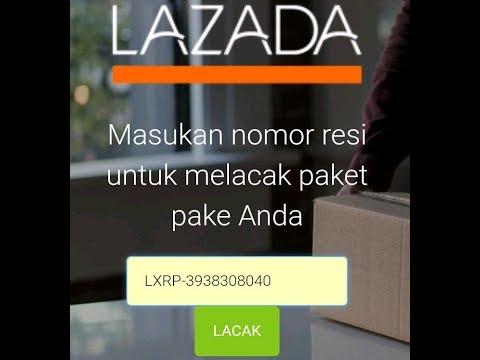 Cek status paketan LEX ID lazada