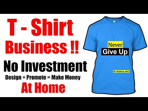 Make Money Online   T-Shirts Design & Sell Online   No Investment   Full Time Job - Hindi 2017