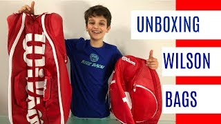UNBOXING: NEW 2018 WILSON PRO STAFF tennis bag & backpack