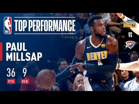 Paul Millsap Posts And Toasts His Way To 36 Points Vs Thunder!