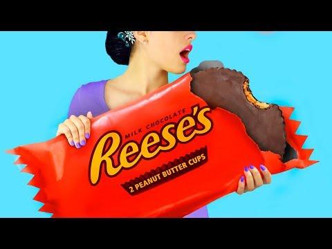 DIY巨型糖果和微型糖果!有趣的惡作劇!