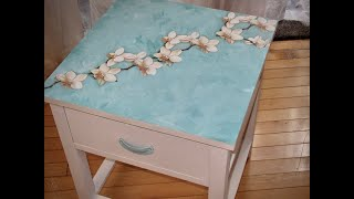 How To Decoupage Furniture  Tiffany Inspired Table