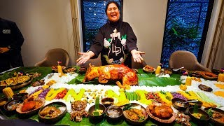 Meet the LECHON DIVA of the Philippines - FILIPINO FOOD Boodle Fight!