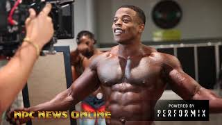 IFBB Mens Physique  Pro Andre Ferguson Backstage AT The 2018 Olympia