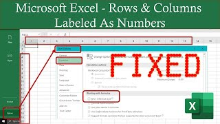 Microsoft Excel Rows and Columns Labeled As Numbers | Excel 2016 Tutorial