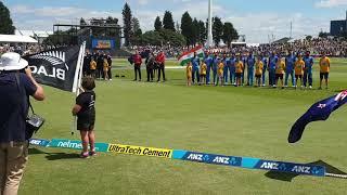 National Anthems- India Vs New Zealand 2nd Odi, Baypark, Nz