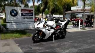2012 Triumph Daytona 675 R White At Euro Cycles Of Tampa Bay