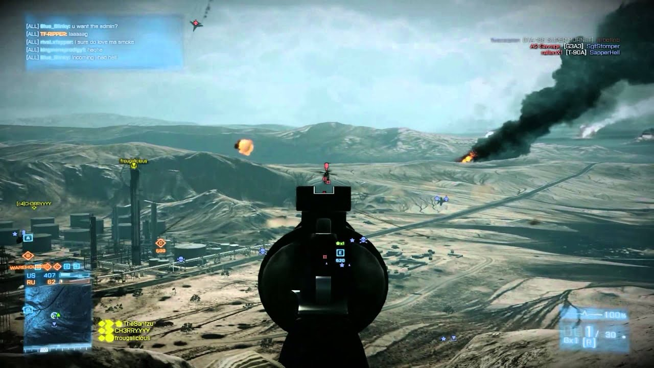 This Person Sniped A Chopper In Battlefield 3 Using Only A Magnum. Awesome.