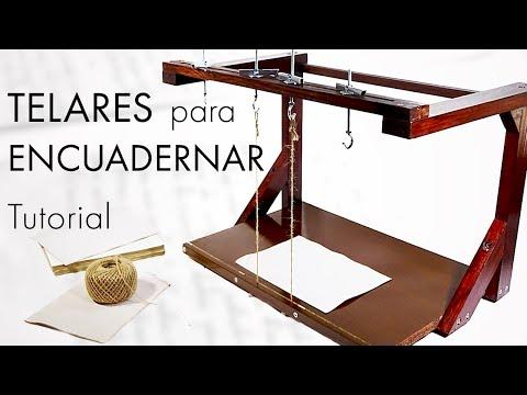 Cómo hacer un TELAR para ENCUADERNAR. Fácil y práctico. Tutorial | How to make a book binding loom