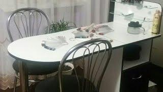 """Маникюрный стол с 3  выдвижными ящиками и 2 полками для лаков """"Professional"""" от компании Ukrbest - видео"""