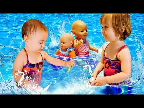 Бьянка и Марта в бассейне с Беби Бон. Видео для детей Привет, Бьянка!