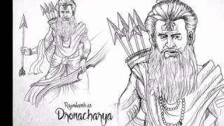 S S Rajamouli Mahabharata Characters Imaginery Sketches