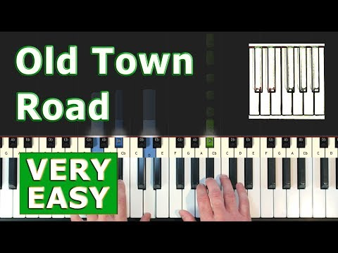 Lil Nas X - Old Town Road - VERY EASY Piano Tutorial - Sheet Music (Synthesia)
