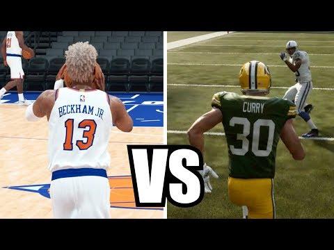 Can Odell Beckham Jr Get A Full Court Shot Before Steph Curry Can Catch A Touchdown?