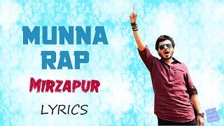 Munna Rap - Mirzapur (Lyrics)   Pankaj Tripathi   - YouTube