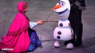 Frozen Musical Funny Technical Fail! - Disney Fail! Performers Improvise!