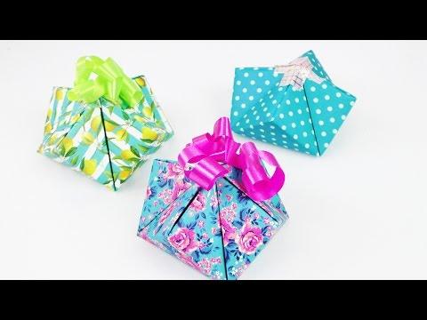Süße Geschenkverpackung Falten | Einfache U0026 Schnelle Geschenk Box Selber  Machen | DIY Idee