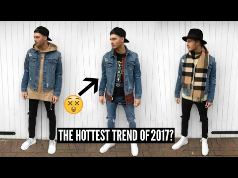 How To Style A Denim Jacket | Mens Fashion 2018 Street Style - Winter