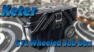 Keter - 57L Wheeled Job Box