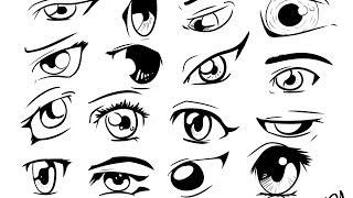 How to draw manga anime eyes 16 different eyes in manga studio 5