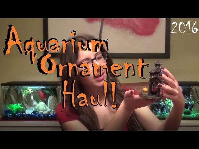 Halloween Aquarium Ornament Haul! 2016