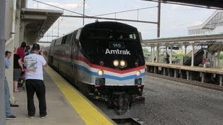 preview picture of video 'Lancaster Railfanning with Amtrak Heritage 145! 8-16-13 and 8-17-13'