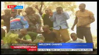 Barding School receives a heroes welcome home after winning the E.Africa games