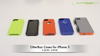 Review of all 5 OtterBox Cases for iPhone 5S & iPhone 5 - Armor, Defender, Commuter, Reflex & Prefix