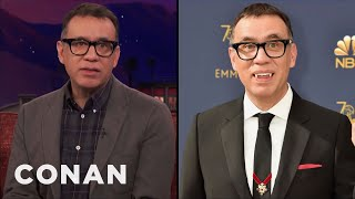 Why Fred Armisen Wore Dracula Fangs To The Emmys  - CONAN on TBS