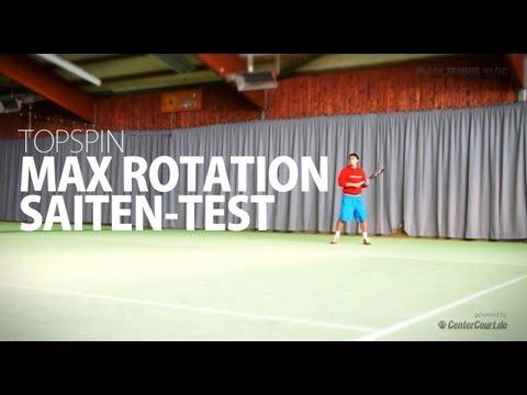 Topspin Max Rotation Tennissaite Test
