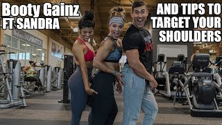 Tip to Grow Bigger Shoulders - Legs and Booty with Sandra (Ft Russwole)