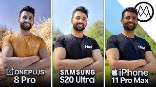 OnePlus 8 Pro vs Samsung S20 Ultra vs iPhone 11 Pro Max Camera Test Comparison!