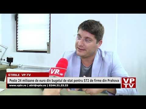 Peste 24 milioane de euro din bugetul de stat pentru 572 de firme din Prahova