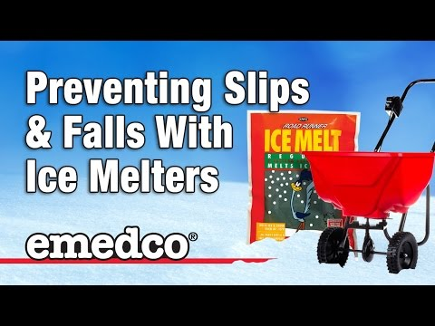 Emedco Presents: Using Ice Melters to Prevent Slips and Falls