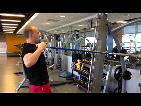 Standing Banded Face Pull to Chest