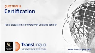 Q13: Certification and Translation