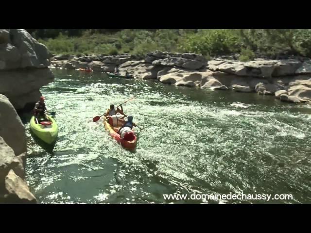 """Ardèche Outdoor sud France, Domaine de Chaussy : canoe kayak dans les """"Gorges de l'Ardèche"""""""