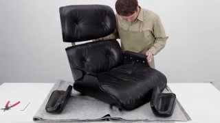 How To Restore An Eames Lounge Chair With Broken Arm Rest Shock Mounts Restaurierung Restauration