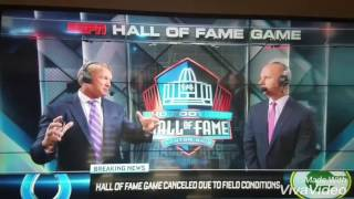 NFL 2016 Hall Of Fame Game Cancelled
