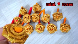 Mini Roses Making With Cloth/Simple And Easy Fabric Roses