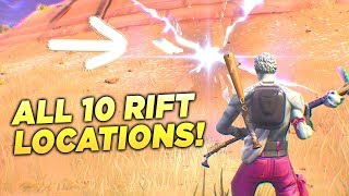 """ALL 10 RIFT LOCATIONS! """"Use a Rift at Different Rift Spawn Locations"""" Fortnite Week 8 Season 5 Guide"""