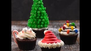 Decorative Holiday Cupcakes