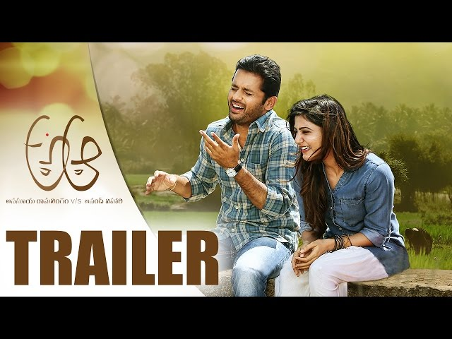 A Aa Official Theatrical Trailer 2016 | Nithiin A Aa Trailer | Samantha