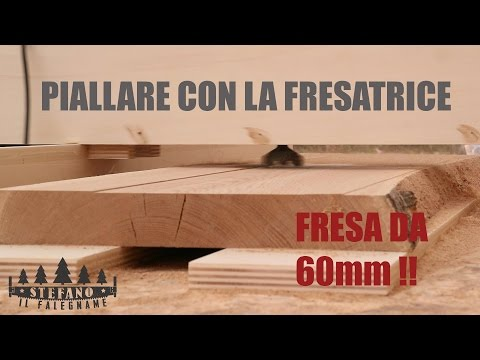 PIALLARE TAVOLE CON LA FRESATRICE - FAI DA TE