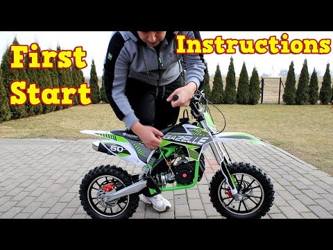 Dirt Bike 50cc - First Start - Instructions - Gazelle Mini Cross