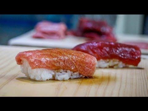 Tuna nigiri – how to make tuna nigiri sushi – japanese food recipe