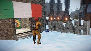 RUST - Обворовали базу Итальянцев. Самый сильный клан Арабов. Официальный сервер